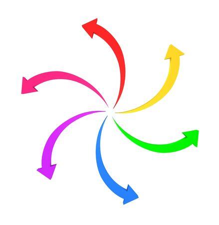 cíclico: flechas circulares Foto de archivo