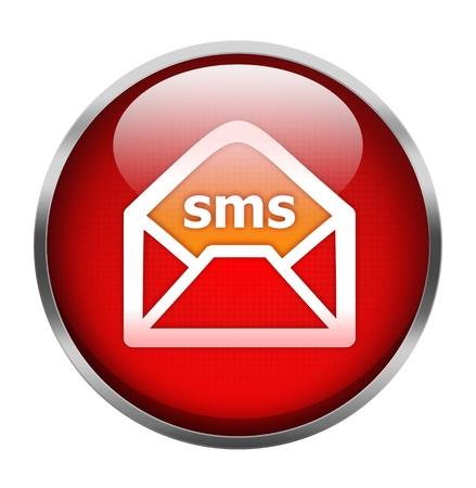 Sms icon isolated on white Stock Photo - 15856161