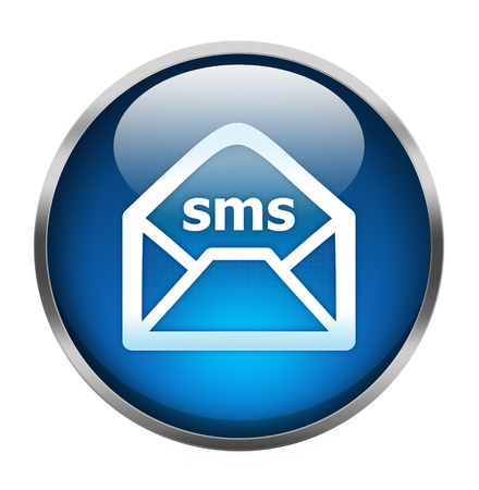 message box: Sms icon isolated on white