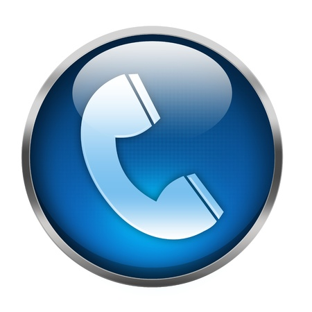 telephone icon isolated on white Stock Photo - 15856156