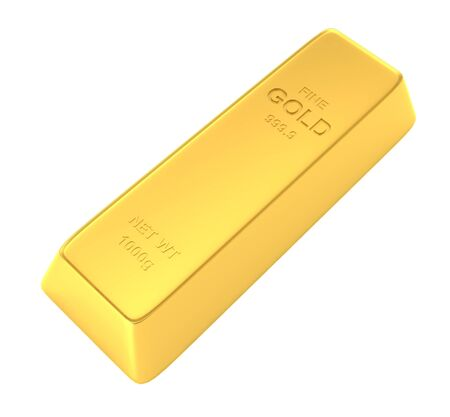 gold bar isolated