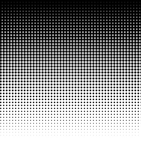 halftone dots: Black and white halftone background
