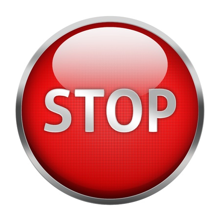 Stop button Isolated Stock Photo