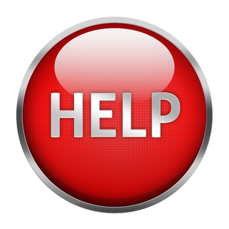 Help button isolated Stock Photo - 18230567
