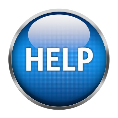 Help button isolated Stock Photo