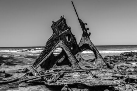 The wreck of SS Speke near Kitty Miller Bay