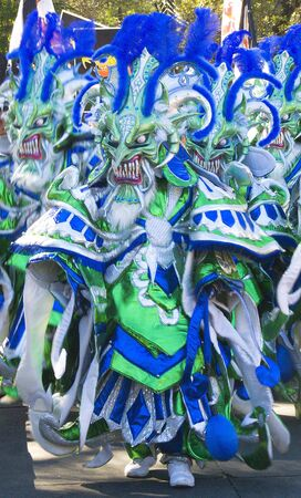 Disguise dress used during the most important carnival celebration in the Caribe Imagens