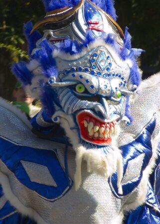 semblance: Maschera utilizzata durante la pi� importante festa di carnevale nel Caribe Archivio Fotografico