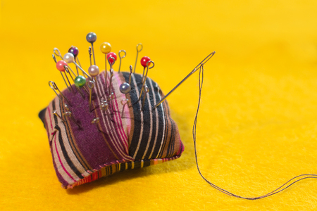 small needle case pillow thread