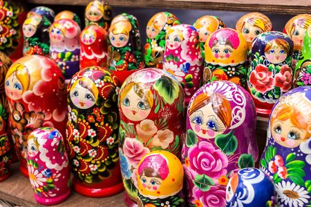 traditional russian dolls figures, gift shop