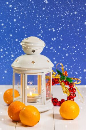 New Year lantern with tangerines