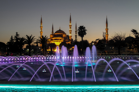 blue mosque: Blue Mosque in the night Stock Photo