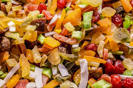 candied: candied fruit.