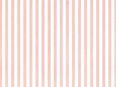 Watercolor pink stripes background. Salmon watercolor stripes. Abstract watercolor background with pink stripes.