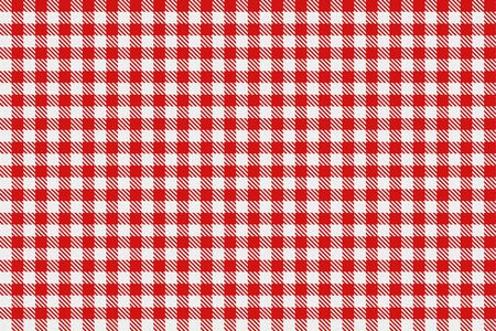 checked: Classic checked red and white texture. Red gingham check pattern.