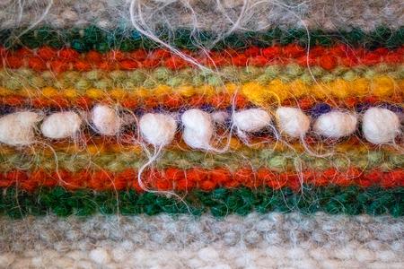 tejido de lana: Traditional Ukrainian woven woolen fabric from the Carpathian mountains region. Foto de archivo