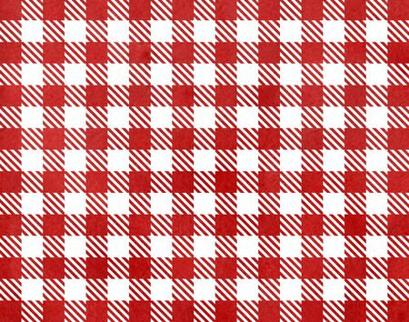 checked: Classic checked red watercolor texture. Stock Photo