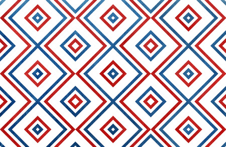 fourth birthday: Geometrical pattern in dark blue and red colors.