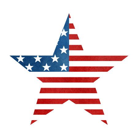 star shaped: The American flag print as star shaped symbol.