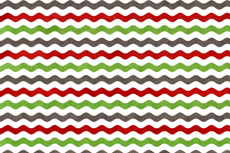 dark red: Abstract watercolor green, dark red and grey wavy striped background. Stock Photo