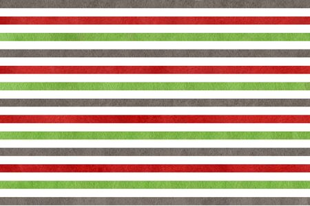 dark red: Abstract watercolor background with green, dark red and grey stripes. Stock Photo