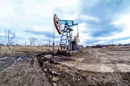 nodding: Oil pumpjack or nodding horse pumping unit