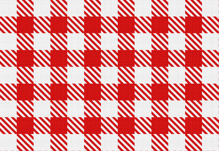 napkins: Classic checked red and white texture. Red gingham check pattern for tablecloths, napkins, curtains, home decorating, arts, crafts, fabrics, scrapbooks, backgrounds. Stock Photo