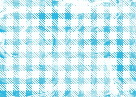checked: Classic checked blue marble ink texture. Grunge blue checked background. Stock Photo