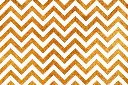 Golden painted stripes background, chevron. Abstract pattern with golden stripes on white background. Golden shining texture. Gold paint.