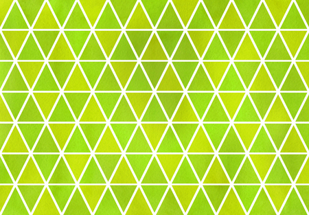lime green: Watercolor lime green triangle pattern. Geometric abstract texture.