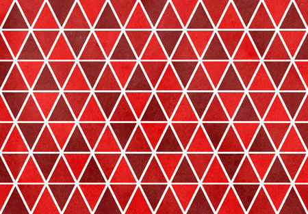 dark red: Watercolor dark red triangle pattern. Geometric abstract texture. Stock Photo