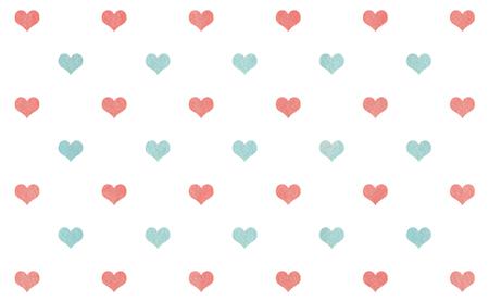 corazones azules: Acuarela de coral corazones azules sobre fondo blanco patrón de color rosa y.