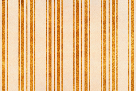 acryl: Watercolor beige and acryl golden striped background.