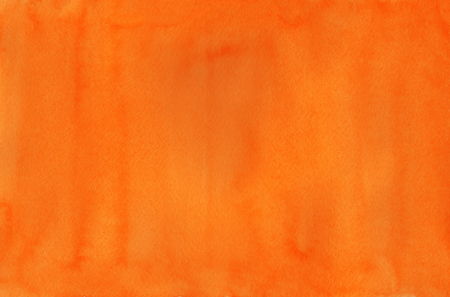 Abstract orange watercolor background. Orange watercolor texture. Abstract watercolor hand painted background. Standard-Bild
