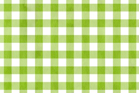 checked: Classic checked green watercolor texture. Watercolor green checked background.
