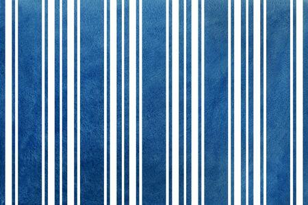 dark blue: Watercolor dark blue striped background. Abstract dark blue striped background. Stock Photo