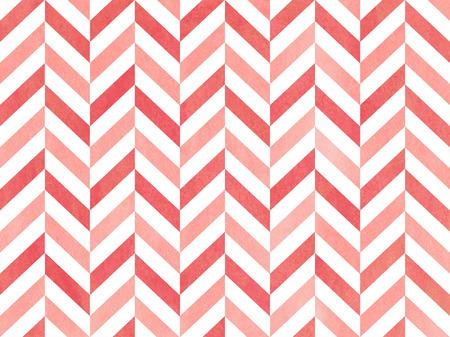 pink stripes: Watercolor pink stripes background, chevron. Geometric pattern