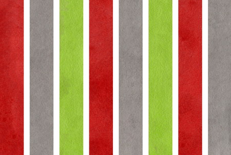 dark red: Watercolor green, dark red and grey striped background. Abstract watercolor background with green, dark red and grey stripes.