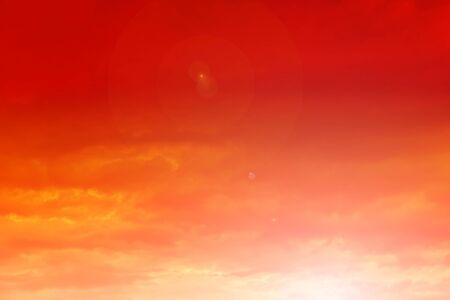 orange sunset: Beautiful sunset. Orange sunset sky with clouds.