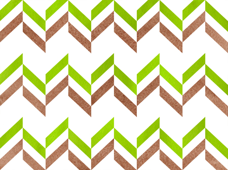 lime green: Watercolor brown and lime green stripes background, chevron.