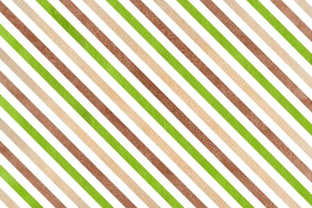 green brown: Watercolor brown, green and beige striped background. Abstract watercolor background with brown, green and beige stripes.