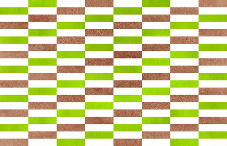 lime green: Watercolor brown and lime green striped background. Black monochrome pattern.