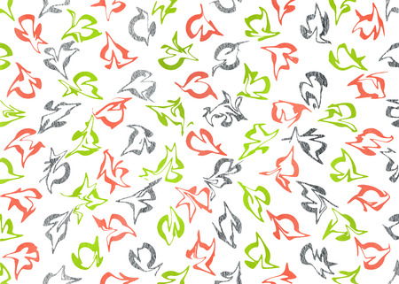 geen: Watercolor lime geen, salmon pink and silver abstract pattern. Ornament for fashion textile, cloth, backgrounds