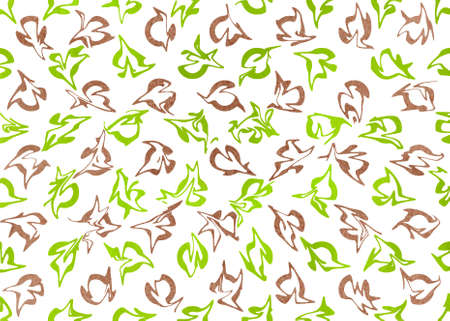 lime green: Watercolor brown and lime green abstract pattern. Ornament for fashion textile, cloth, backgrounds Stock Photo