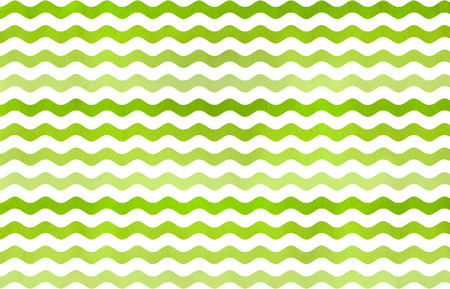 geen: Watercolor lime geen wavy striped pattern. Green gradient pattern. Stock Photo