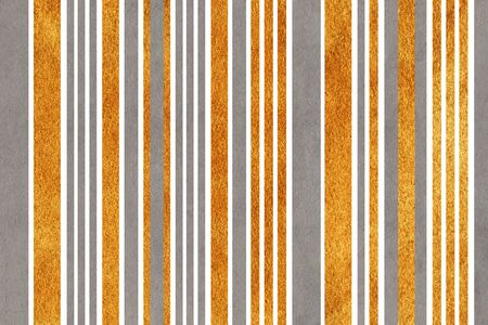 acryl: Watercolor gray and acryl golden striped background.
