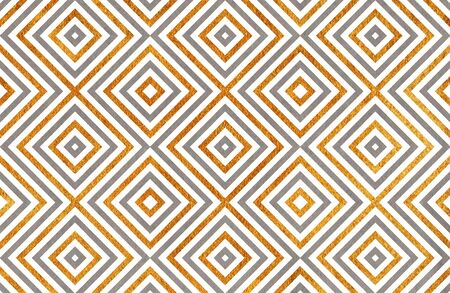 acryl: Watercolor geometrical pattern in gray and acryl golden color. For fashion textile, cloth, backgrounds.