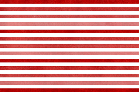 striped background: Watercolor red striped background. Red gradient pattern.