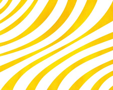 curved line: Watercolor yellow striped background. Curved line pattern.