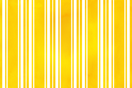 Watercolor yellow striped background. Watercolor geometric pattern.